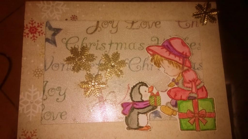 17.12.2014 - Weihnachtliche Schüttelkarte