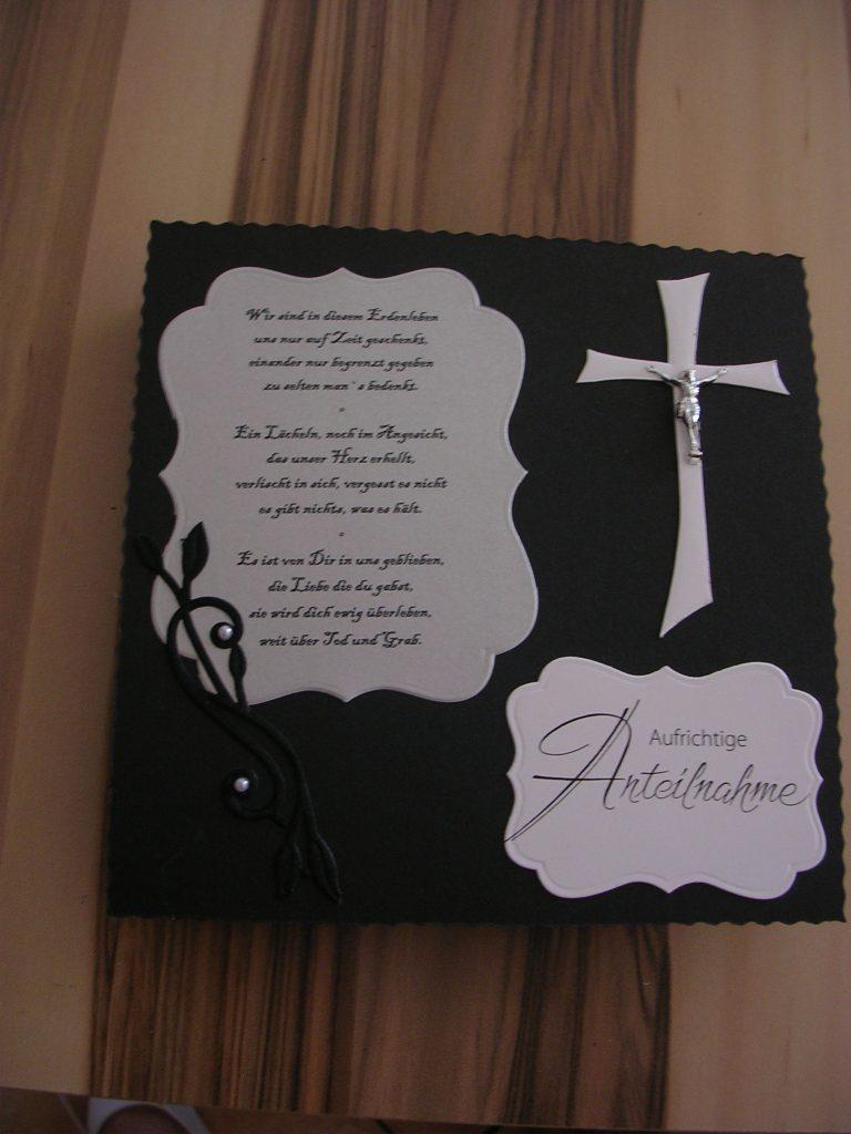 10.08.2013 - Trauerkarte
